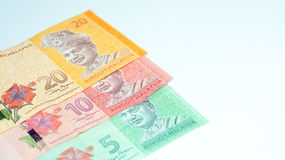 De bankbiljetten van Maleisië De foto van het concept Royalty-vrije Stock Foto