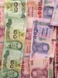 De bankbiljetten van Thailand Stock Afbeeldingen