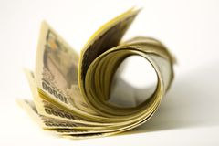 De bankbiljetten van Yen Royalty-vrije Stock Fotografie