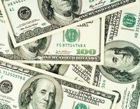 De bankbiljettenachtergrond van dollars Stock Afbeeldingen