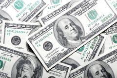 De bankbiljettenachtergrond van dollars Stock Foto