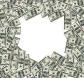 De bankbiljettenframe van de dollar. Knippend inbegrepen flard Royalty-vrije Stock Afbeelding