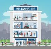De bankbouw stock illustratie