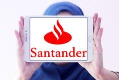 De bankembleem van Santander Royalty-vrije Stock Foto