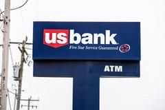 De Bankembleem van de V.S. op de banner stock afbeeldingen