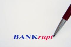 De banken overleven slechts met overheidsbail-out. Stock Afbeelding