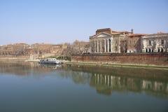 De banken van de Garonne. Stock Afbeeldingen