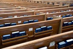 De banken van de kerk Stock Fotografie
