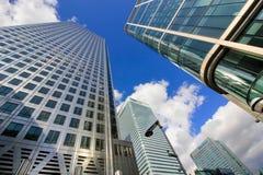 De Banken van Londen Canary Wharf Royalty-vrije Stock Foto