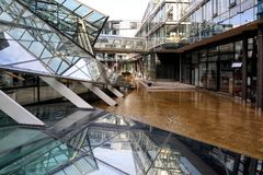 De Bankhoofdkwartier van NORD pond de Bouw stock foto