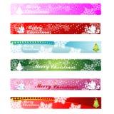 De Banner 468&60 van het Web van Kerstmis Stock Fotografie