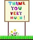 De banner dankt zeer u! Vectorillustratie Royalty-vrije Stock Afbeelding