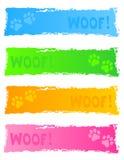 De banner/de kopbal van de hond Stock Foto