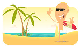 De Banner of het Teken van de Vakanties van het Strand van de zomer Stock Foto's