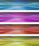 De banner met punten en mirorred relfections Stock Afbeeldingen