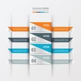 De banner Oranje, blauwe, grijze kleur van de ontwerplay-out Royalty-vrije Stock Foto
