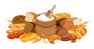 De banner van bakkerijproducten vector illustratie