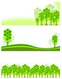 De banner van bomen Stock Afbeeldingen
