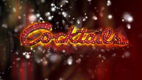 De banner van cocktails Royalty-vrije Stock Fotografie