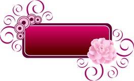 De Banner van de bloem Royalty-vrije Stock Afbeelding