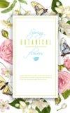 De banner van de bloemvlinder Royalty-vrije Stock Afbeeldingen