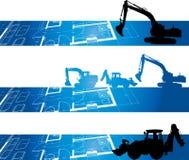 De banner van de bouw stock illustratie