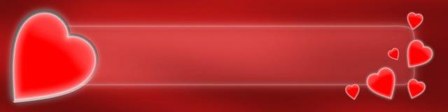 De Banner van de Dag van de valentijnskaart Stock Afbeelding