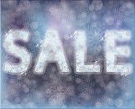 De banner van de de winterverkoop, vectorillustratie Stock Afbeeldingen