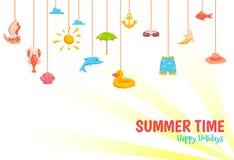 De banner van de de zomertijd Royalty-vrije Stock Afbeeldingen