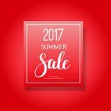 de banner van de de zomerverkoop van 2017 Stock Foto's