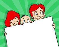 De banner van de familie Royalty-vrije Stock Afbeelding