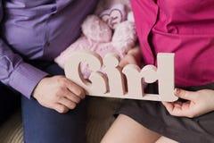 De banner van de familievrouw Stock Afbeeldingen