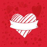 De Banner van de hartvorm Stock Fotografie