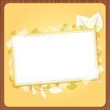 De banner van de herfst met hout Royalty-vrije Stock Foto