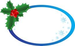 De banner van de Hulst van Kerstmis