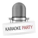De Banner van de karaokepartij Stock Afbeeldingen