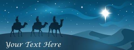 De Banner van de Kerstmisgeboorte van christus Stock Afbeelding