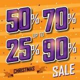 De banner van de Kerstmisverkoop Vectorverkoopkorting Stock Afbeelding