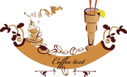 De banner van de koffie Royalty-vrije Stock Foto