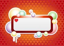 De banner van de liefde bubles Stock Foto's