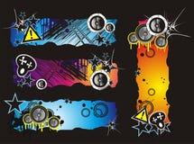 De Banner van de Muziek van de Stijl van Grunge royalty-vrije illustratie