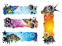 De Banner van de Muziek van de Stijl van Grunge vector illustratie