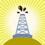 De banner van de olieboortoren Stock Fotografie