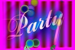 De Banner van de partij Stock Foto
