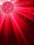 De Banner van de partij met de Bal van de Disco. EPS 8 Stock Foto's