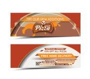 De Banner van de pizzawinkel Stock Fotografie