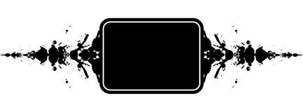 De banner van de plons Stock Afbeeldingen