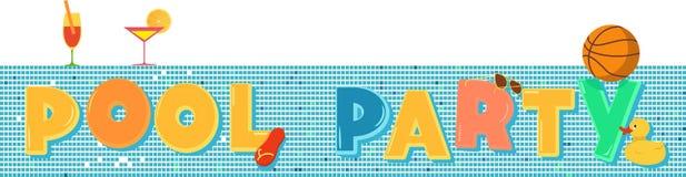 De banner van de poolpartij vector illustratie