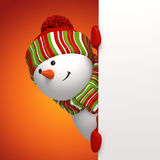 De banner van de sneeuwman Stock Foto