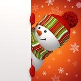 De banner van de sneeuwman Royalty-vrije Stock Fotografie